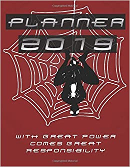 Amazon.com: Planner 2019 With Great Power Comes Great ...