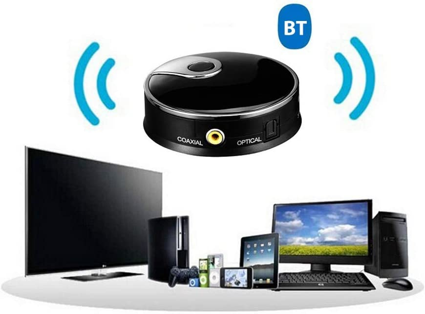 hudiemm0B Bluetooth Audio Transmitter Mini Wireless 4.0 CSR Music Stereo Bluetooth Audio Transmitter Splitter Adapter