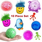 Mr. E=mc2 10 Piece Sensory Toys Bundle for Boys and Girls   Sensory Processing Tools for Kids   Fidget Toys for Adults   Stretchy Toys, Squeeze Toys, Therapy Toys, Stress Relief, Autism, Anxiety, ADHD