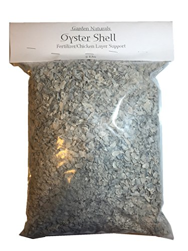 5 Pounds All Natural Crushed Oyster Shells for Poultry Birds and Gardens - Garden -