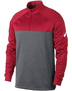 10923cbaf11c Amazon.com   Nike Golf Men s Classic Half Zip Wind Jacket (Black ...