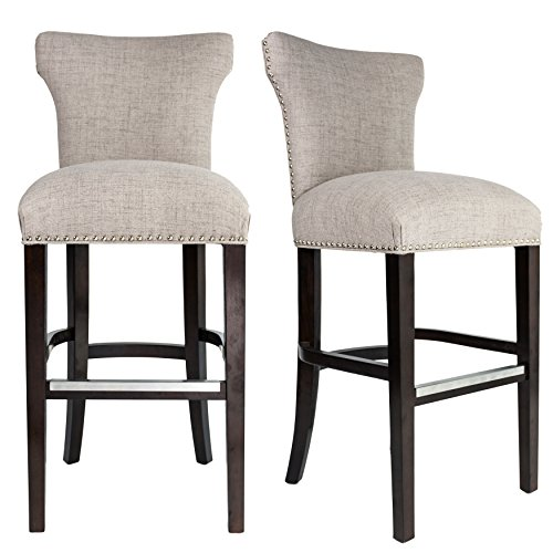 upholstered bar stools - 5