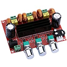 Yeeco TPA3116D2 2x50W+100W Channel Digital Power Audio Sereo Amplifier Board, DC 12-24V Car Stereo AMP Module for Audio System DIY Speakers with Volume Knob; Heatsink; 3.5 Audio Input/ DC Connector