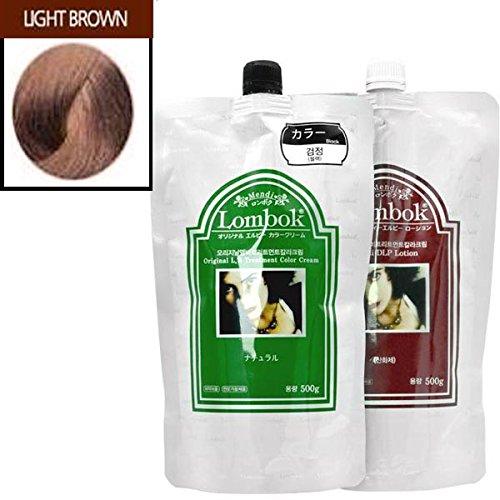 Gain LOMBOK Original LB Henna Hair Treatment Color Cream 6 Colors Pick one! (#03 Light Brown) by LOMBOK