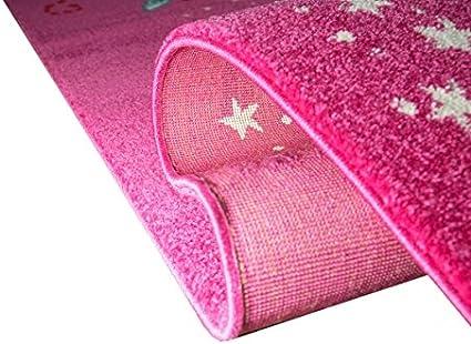 Tapis poil ras 3D papillon contour coupe Rouge Cr/ème F/ée Rose Turquoise Gr/ö/ße 80x150 cm