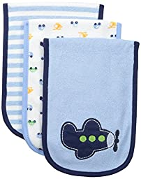 Gerber Baby Boys\' 3 Pack Terry Burp Cloths, Transportation, One Size