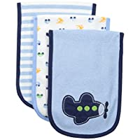Gerber Baby Boys' 3 Pack Terry Burp Cloths, Transportation, One Size