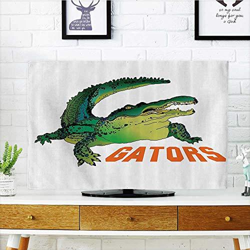 Television Protector Grumpy Alligator Has Word Gator Crocodile Humor Wild Life Safari Aquatic Television Protector W36 x H60 INCH/TV - Control Car Remote Gator