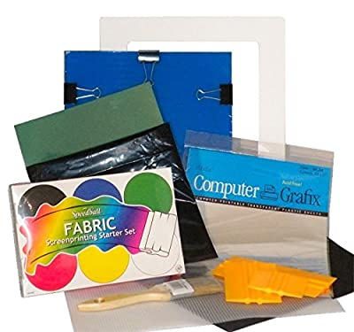 Complete DIY Silk Screen Printing Starter Kit with Speedball Primary Fabric Inks