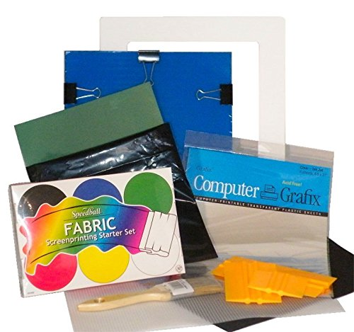 DIY Complete T-Shirt Screen Printing Starter Kit with Speedball Primary Fabric Inks by EZScreenPrint