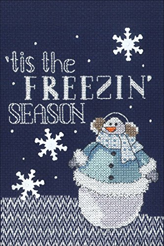 "Janlynn Cross Stitch Kit Freezing Season, 5"" x 7"""
