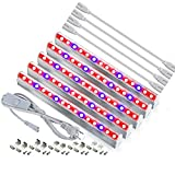 [Pack of 5] Led Grow Light for Plants, RAYWAY 5pcs Extendable LED Grow Strip T5 Tube Lights Full Spectrum for Indoor Plant Hydroponics Greenhouse Plant Shelf, Easy Installation