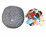 Star Canvas Stuffed Animal Storage Bag Bean Bag Cover Best Solution For Kids Numerous Toys 38''