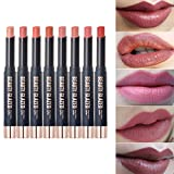 8PCS/Set Beauty Glazed Easy to Wear Matte Liquid Lipstick Hot Sexy Colors Lip Paint Matte Lipstick Waterproof Long Lasting Lip Gloss Lip