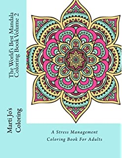 The Worlds Best Mandala Coloring Book A Stress Management Coloring