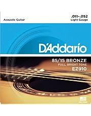 D'Addario EZ910 Juego de cuerdas para guitarra acústica de bronce, 011' - 052'