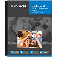 Polaroid Self-Seal Laminating Pouches, 8.9 x 11.4-Inches, 10.5 mil thick, 25 Pack