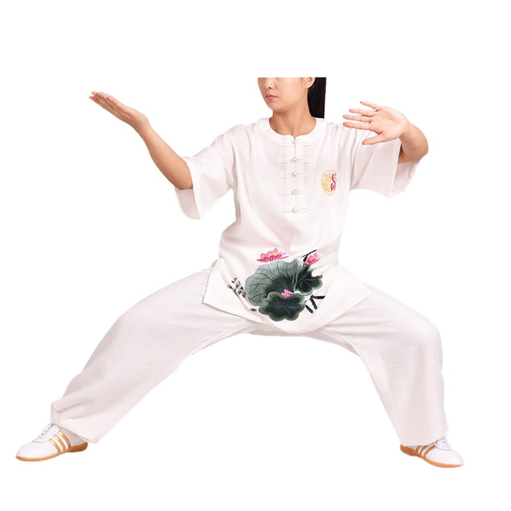 KIKIGOAL Women's Cotton Blend Embroidery Chinese Traditional Tai Chi Uniforms Kung Fu Clothing Martial Arts Wear (XL)