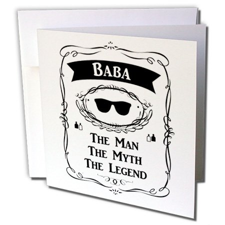 InspirationzStore The Man The Myth The Legend - Baba The Man The Myth The Legend dad father in Arabic Chinese Bengali - 12 Greeting Cards with envelopes (gc_232395_2) ()