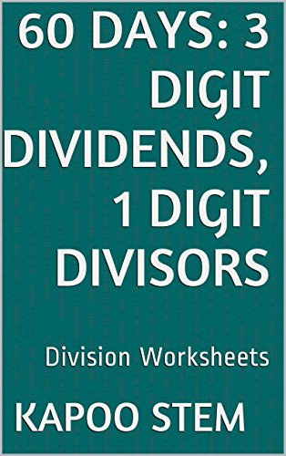 Amazon.com: 60 Division Worksheets with 3-Digit Dividends, 1-Digit ...