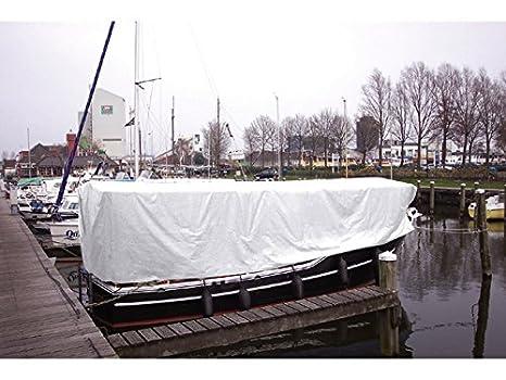 Schiff Abdeckplane 150g//m2 4 x 6m wei/ß Talamex Boot