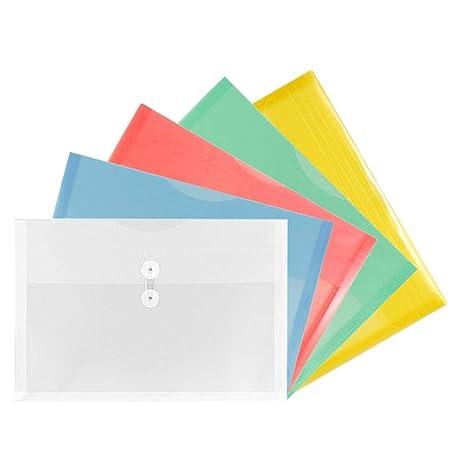 Amazon.com: TIENO Surtido de sobres de plástico transparente ...