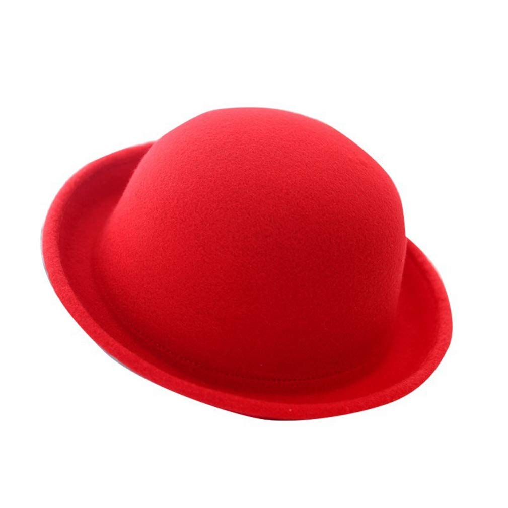 Women Men Fashion Vintage Bowler Top Hats Nice Roll Brim Derby Fedora Dome Cap