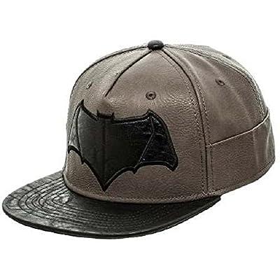 Batman vs. Superman- Black Bat Logo Snapback Hat Size ONE SIZE from BIOWORLD