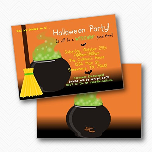 Witches Brew Halloween Party Invitations | Envelopes included -