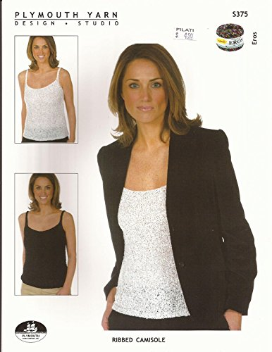 Plymouth Knitting Pattern S375 Easy Knit Women's Ladder Yarn Ribbed Camisole