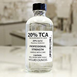 """Trichloroacetic Acid Solution TCA 20% Chemical Skin Peel (4 Ounce) by """"Erlenmeyer's Laboratory, LLC"""""""