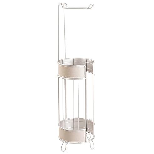 InterDesign 62235EU Lauren Freistehender Toilettenpapierhalter Für  Badezimmer, Plastik, Taupe/satiniert, 15.875 X