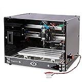 Desktop CNC Router Machine 3018-SE with Enclosure, 300x180mm 3-Axis Milling Machine for Wood Acrylic Plastics Metal Resin Artcraft DIY Design Making