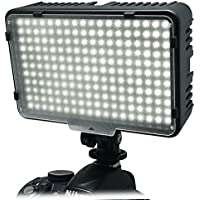 Mcoplus 198 LED Dimmable Ultra High Power Panel Digital On-Camera Video LED Light for Canon Nikon Pentax Panasonic Samsung Olympus DSLR Camera DV & Camcorder