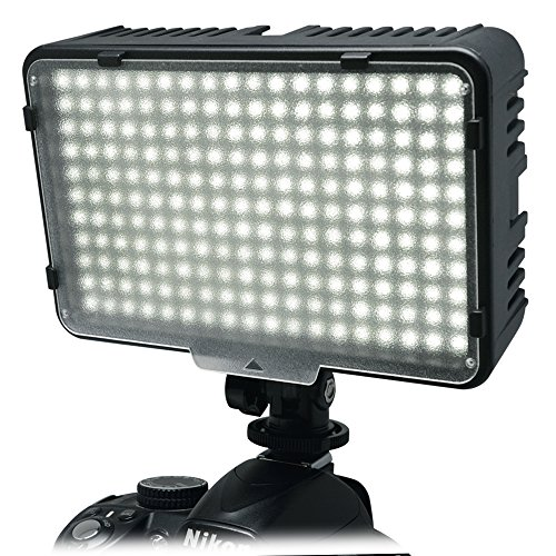 Mcoplus 198 LED Dimmable Ultra High Power Panel Digital On-Camera Video LED Light for Canon Nikon Pentax Panasonic Samsung Olympus DSLR Camera DV & Camcorder by Mcoplus