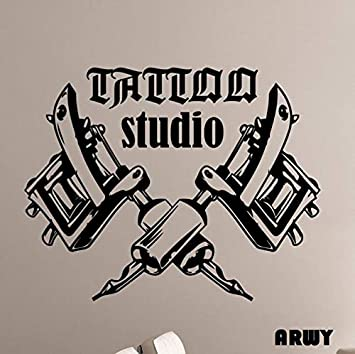Buy Arwy Salon Wall Stickers Removable Art Wallpaper Tattoo Machines Wall Stickers For Tattoo Salon Room Decor 58x76 Cm Online At Low Prices In India Amazon In