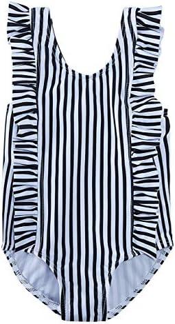 1T-5T RAISEVERN Toddler Baby Girls Swimsuit Ruffles Bathing Suit Cute Beach Sport One Piece Swimwear Backless Bikini Tankini