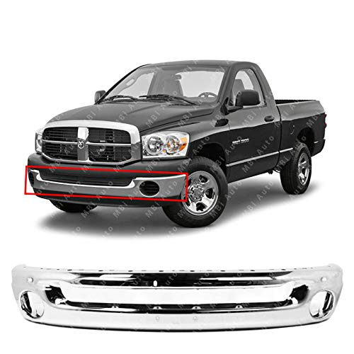 (MBI AUTO - Chrome Steel, Front Bumper Face Bar for 2002-2008 Dodge RAM 1500 & 2003-2009 Dodge RAM 2500 3500 Pickup, CH1002383)