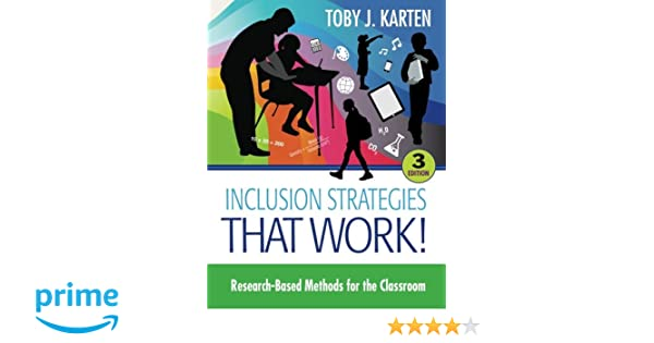 Amazoncom Inclusion Strategies That Work Research Based Methods