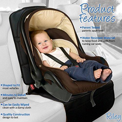Riley Infant de protection pour siège auto. Taille complète Enfant et Bébé Tapis de protection pour siège auto. Idéal pour coussin de cuir et sièges. Protège contre les chic