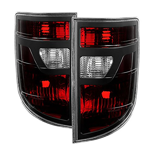 VIPMOTOZ For 2006-2008 Honda Ridgeline OE-Style Red Lens Tail Light Housing Lamp Assembly Replacement Driver & Passenger Side