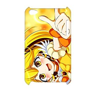 3D Print Classic Japanese Anime&Smile Precure Theme Case Cover for iPod Touch 4 - Personalized Hard Cell Phone Back Protective Case Shell-Perfect as gift