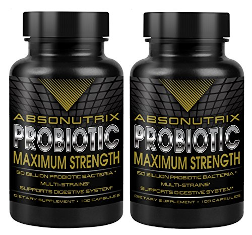 Absonutrix Probiotic Maximum Strength 50 Billion Per Capsule - Multi Stains Very High Quality, pack of ()