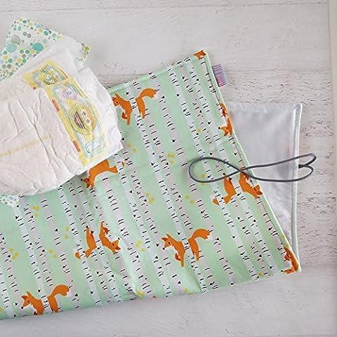 Baby Fox Woodland Diaper Changing Pad (Good Natured Riley Blake)