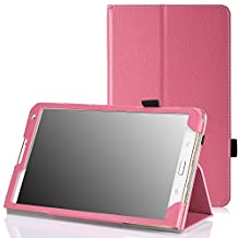 MoKo Slim Folding Cover Case for Samsung Galaxy Tab S 8.4 Inch Android Tablet, PINK (Will NOT Fit tab pro 8.4) (With Smart Cover Auto Wake / Sleep)