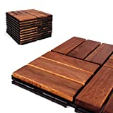 Deck Tiles - Patio Pavers - Acacia Wood Outdoor Flooring -...