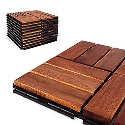 Deck Tiles - Patio Pavers - Acacia Wood ...