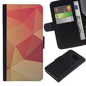 Planetar® Modelo colorido cuero carpeta tirón caso cubierta piel Holster Funda protección Para Samsung Galaxy S6 / SM-G920 ( Peach Lollipop Pattern Wallpaper )