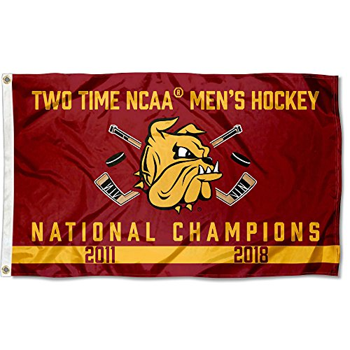 College Flags and Banners Co. Minnesota Duluth Bulldogs 2-Time Hockey National Champions Flag