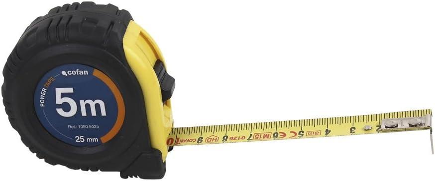 Cofan 10505025 Flex/ómetro Recubierto de Goma 25 mm x 5 m